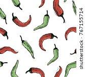 chilly pepper  chilli vector... | Shutterstock .eps vector #767155714
