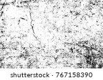 grunge black and white pattern. ... | Shutterstock . vector #767158390