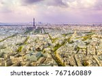view of paris from the tower of ... | Shutterstock . vector #767160889