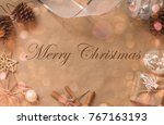 christmas background decorations | Shutterstock . vector #767163193