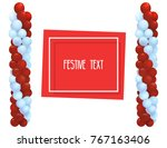 festive balloons in the form of ... | Shutterstock .eps vector #767163406