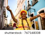 Beautiful Brazilian Woman Baiana Local - Fine Art prints