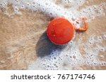 waterproof wireless speaker on... | Shutterstock . vector #767174746