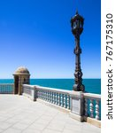 street lamp and stand facing... | Shutterstock . vector #767175310
