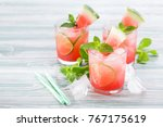 watermelon fresh with lime and...   Shutterstock . vector #767175619