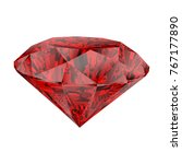 realistic red ruby isolated on... | Shutterstock .eps vector #767177890