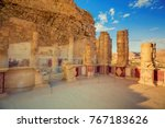 the ruins of the palace of king ... | Shutterstock . vector #767183626
