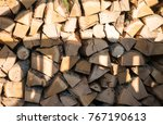 Ends Of Logs Wooden Background.