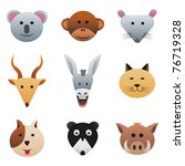 animals 2 collection color... | Shutterstock .eps vector #76719328