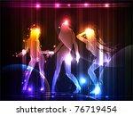 neon girls | Shutterstock .eps vector #76719454