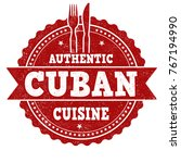 authentic cuban cuisine grunge... | Shutterstock .eps vector #767194990