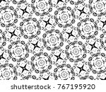 ornament with elements of black ... | Shutterstock . vector #767195920
