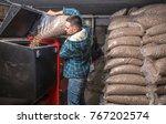 the man loads the pellets in...   Shutterstock . vector #767202574