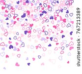 colorful background with heart... | Shutterstock . vector #767213389