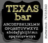 vector set of handwritten fonts ... | Shutterstock .eps vector #767215363