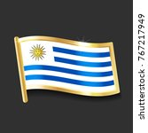flag of  uruguay in the form of ... | Shutterstock .eps vector #767217949