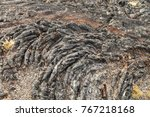 view along north crater flow... | Shutterstock . vector #767218168