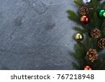 christmas background fir leaves ...