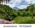 volcano concepcion on ometepe... | Shutterstock . vector #767226640