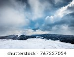 winter scenery. meadows...   Shutterstock . vector #767227054
