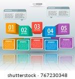 vector abstract 3d paper... | Shutterstock .eps vector #767230348