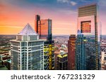 philadelphia aerial with... | Shutterstock . vector #767231329
