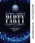 disco poster celebrating night... | Shutterstock .eps vector #767233198