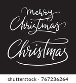 merry christmas handwriting... | Shutterstock .eps vector #767236264