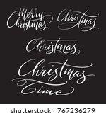 merry christmas handwriting... | Shutterstock .eps vector #767236279
