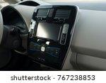 modern car dashboard. screen... | Shutterstock . vector #767238853