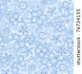 Seamless Abstract Blue Flowers...