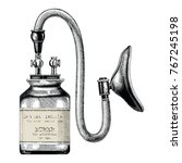 device inhaler for ether... | Shutterstock .eps vector #767245198