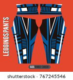 leggings pants fashion vector... | Shutterstock .eps vector #767245546
