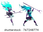 hades and persephone god greek... | Shutterstock .eps vector #767248774