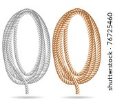 Illustration of a rope on a white background. Vector. - stock vector