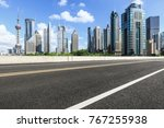 asphalt road and modern city... | Shutterstock . vector #767255938