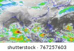 rdar map of thailand flooding | Shutterstock . vector #767257603