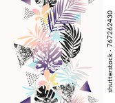 modern illustration with... | Shutterstock .eps vector #767262430