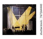 old jazz concert  hand drawn... | Shutterstock . vector #767264440