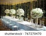 wedding flower ceremony | Shutterstock . vector #767270470