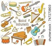 set of hand drawn doodle...   Shutterstock .eps vector #767273803