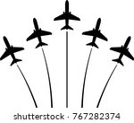 Airplane Flying Formation  Air...
