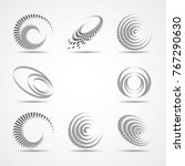 lines in circle form . vector... | Shutterstock .eps vector #767290630