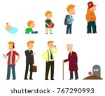 generations men. all age... | Shutterstock .eps vector #767290993