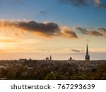 An Autumn sunset over the City of Norwich.