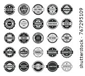 vintage badges and labels stamp ... | Shutterstock .eps vector #767295109