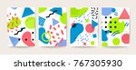 memphis style cover vector... | Shutterstock .eps vector #767305930