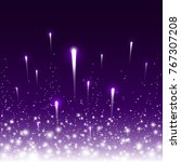 firework lights effect with... | Shutterstock .eps vector #767307208