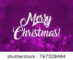 merry christmas wallpaper   Shutterstock . vector #767328484