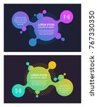 banner design with abstract... | Shutterstock .eps vector #767330350
